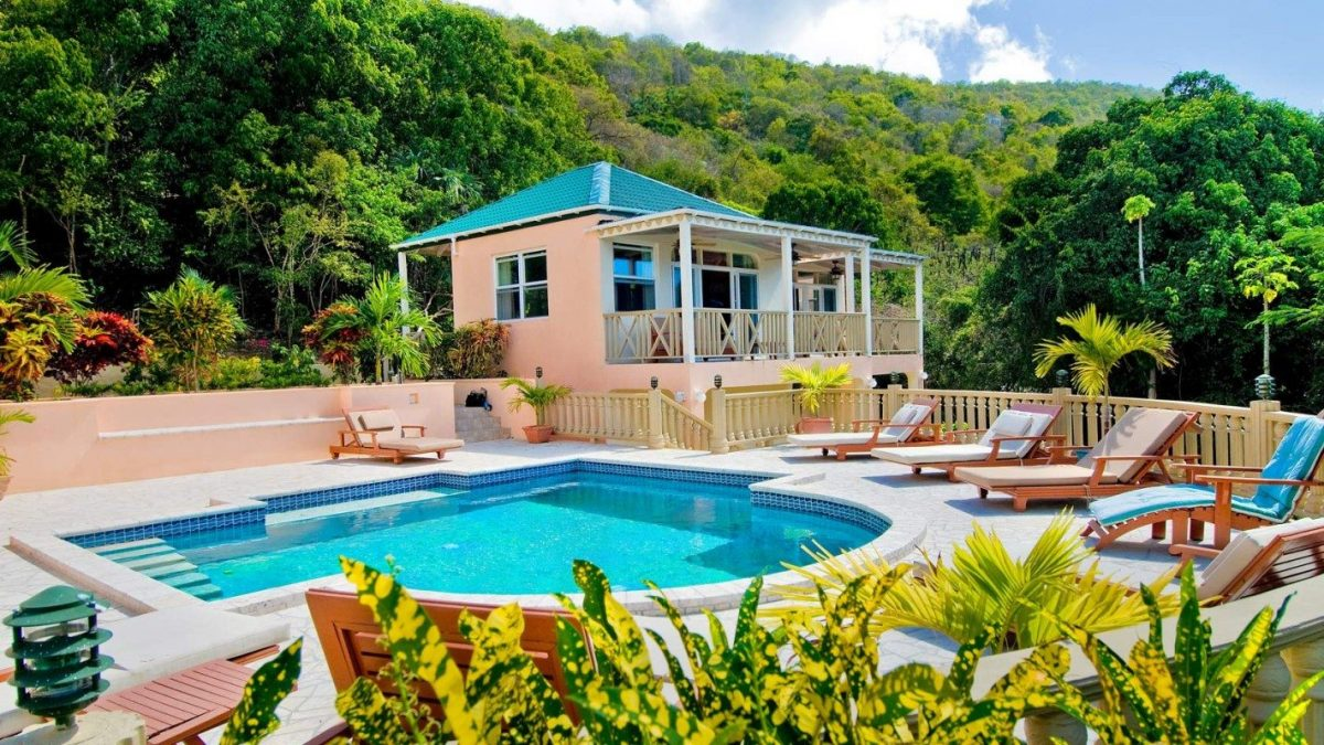 ultimate seclusiuon luxury beach pool vacation bvi